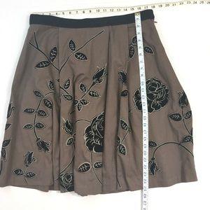 Anthropologie Skirts - Anthropologie Odille Rose Embroidered Skirt